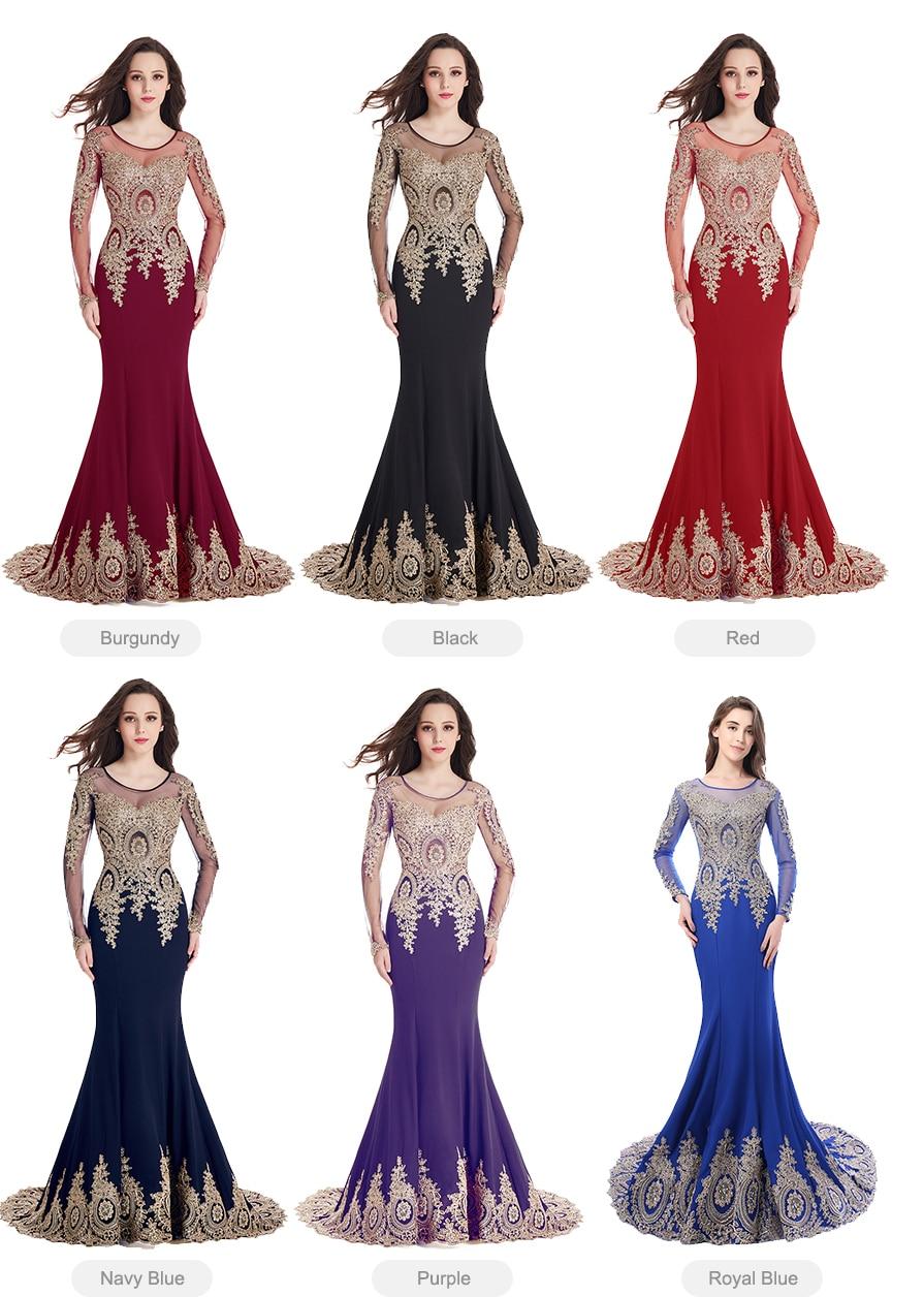 Robe de Soiree Longue Real Image Svart Mermaid Lace Långärmad - Särskilda tillfällen klänningar - Foto 5