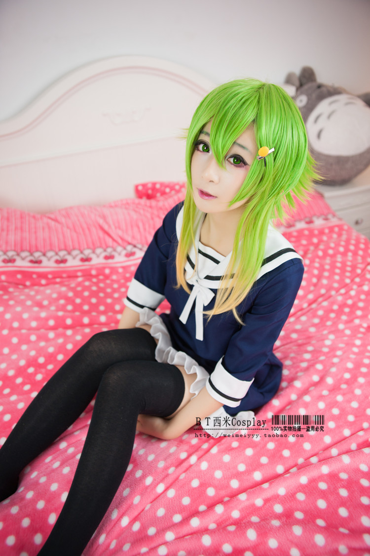 Anime VOCALOID gumi cosplay lolita cos punky kawaii maid marinero ...