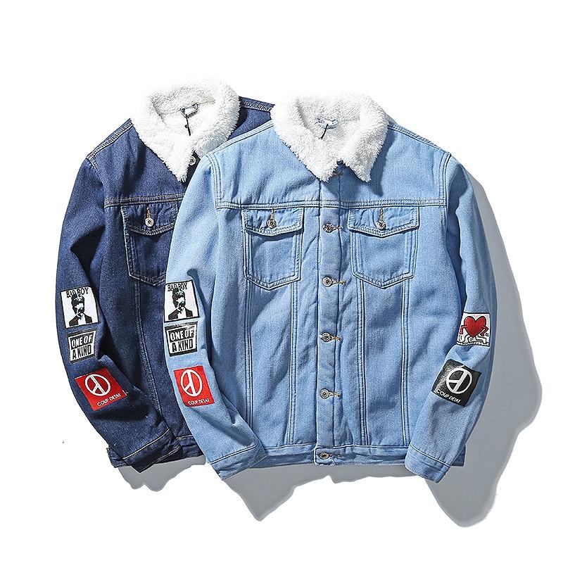 Ciel pu M 5xl D'hiver Hiver asiatique Taille Manteaux Denim Casual Vestes Bleu Hommes xTq76wgBT
