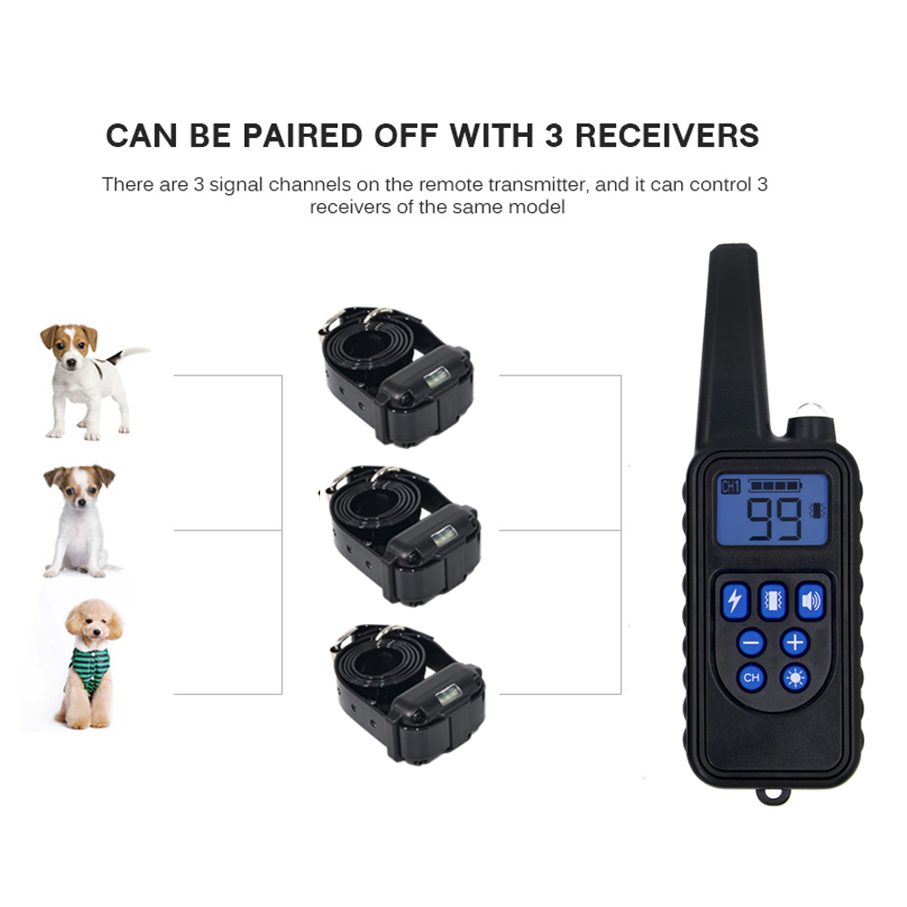 Remote Control Waterproof Dog Training Electric Shock Collar  2