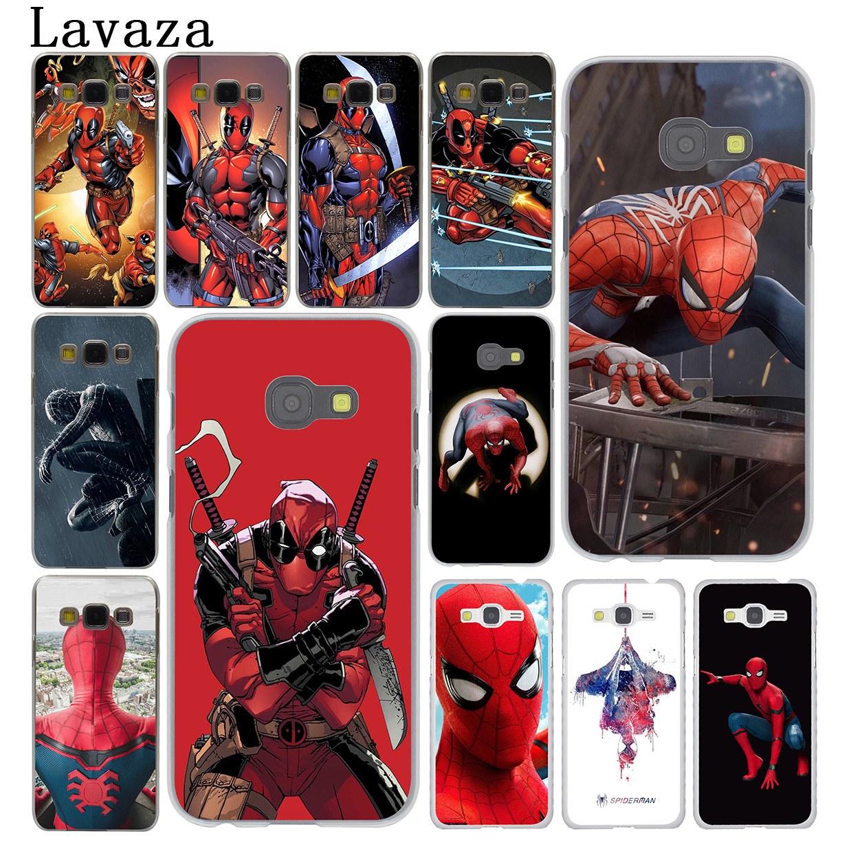 Lavaza <font><b>Spider</b></font> <font><b>Man</b></font> Deadpool <font><b>Spider</b></font>-<font><b>Man</b></font> Marve <font><b>Case</b></font> for <font><b>Samsung</b></font> <font><b>Galaxy</b></font> A8 A7 A3 A5 2015 2016 2017 2018 Note 8 5 4 3 Grand Prime <font><b>2</b></font>