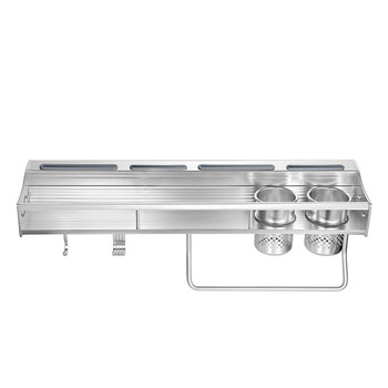 Space aluminum metal kitchen wall hanging rack LU4177