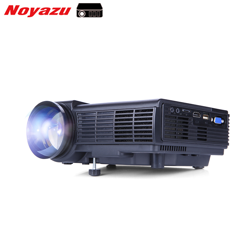 Noyazu 1800 Lumens Mini LED Projector  TV Home Theater Support Full HD 1080p Video Media player Hdmi LCD 3D Beamer gp70 mini full hd 1080p led projector home cinema theater multimedia player usb