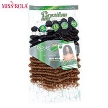 Мисс Рола Ombre Синтетические пряди для наращивания волос глубокая волна ткет волос утки T1B/30 с бесплатной застежка 16-20 дюймов 6 шт./упак. 200 г