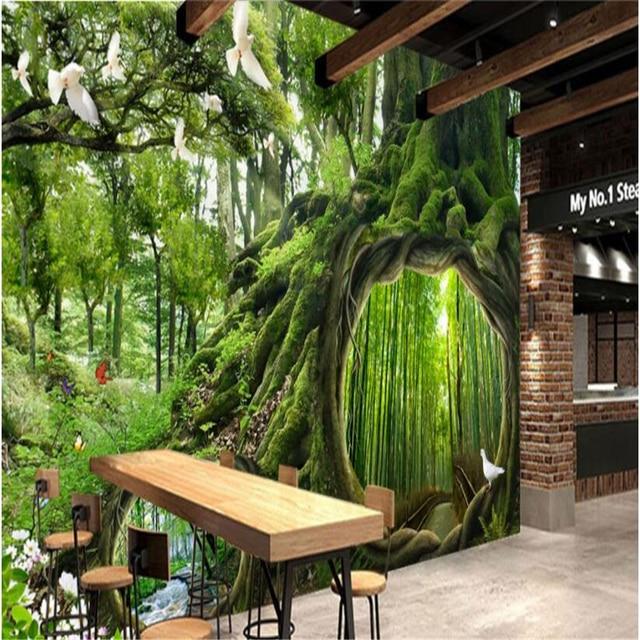 Beibehang Grote maat behang wandbild Magie Wald Cafe kinderkamer ...