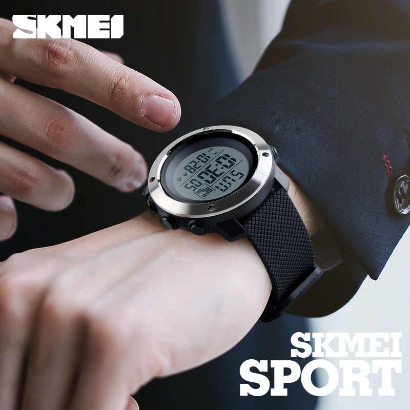 Skmei Mode Mannen Sport Horloges Chrono Dubbele Tijd Digitale Horloges Heren Digitale LED Elektronische Klok Man Relogio Masculino