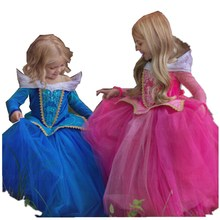 3-9 Y Girls Vestidos Elegant Girl Aurora Sleeping Beauty Dress Autumn Carnival Costumes for Girls Party Princess Dresses GDR126