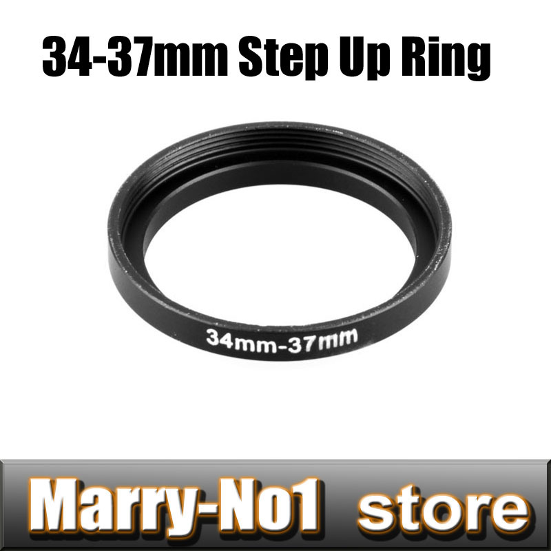 Free shipping 2pcs Black Step Up Filter Ring 34mm to 37mm 34mm -37mm 34-37mm