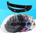 Зеркальный 3-защелкивающийся винтажный Ретро шлем для мотоциклистов  защитный козырек  стеклянные линзы  очки для шлема с открытым лицом