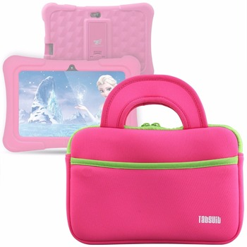 TabSuit Pink Laptop Sleeve Notebook Bag Tablet Case For Dragon Touch  7 inch Computer For Asus HP Acer Toshiba