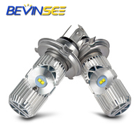 LED Headlight Bulbs Head Fog Lamp Light Bulbs L12 H4/9003 Hi/Lo Beamn For Triumph Daytona Sprint Tiger 1050 800 Explorer Trophy| |   -
