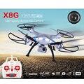 Syma x8g 2.4g 4ch 6 eixo rc quadcopter drone com câmera 5.0mp 1080 p hd ação rtf helicóptero toys