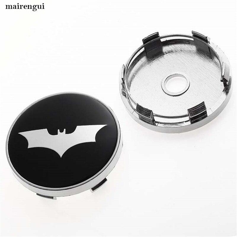 4 sztuk 60mm czarny Batman logo nakładka na piastę dla volvo mazda kia ford hubcap samochód zmodyfikowane koło z abs pokrywa środka bat koła pokrowiec na opony