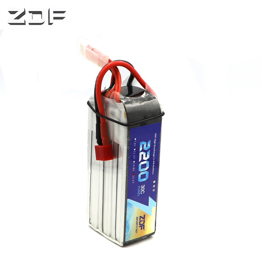 New ZDF 22.2V <font><b>2200mAh</b></font> <font><b>LiPo</b></font> battery <font><b>6S</b></font> 30C max 60C For RC Quadcopter Drone Helicopter Car Airplane Toy Part image