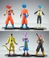 NOVO 12-14 cm 6 pçs/set Dragon Ball Ressurreição 'F' dourado Teatro Saiyan Goku Frieza batalha dos deuses figura de ação brinquedos 15A