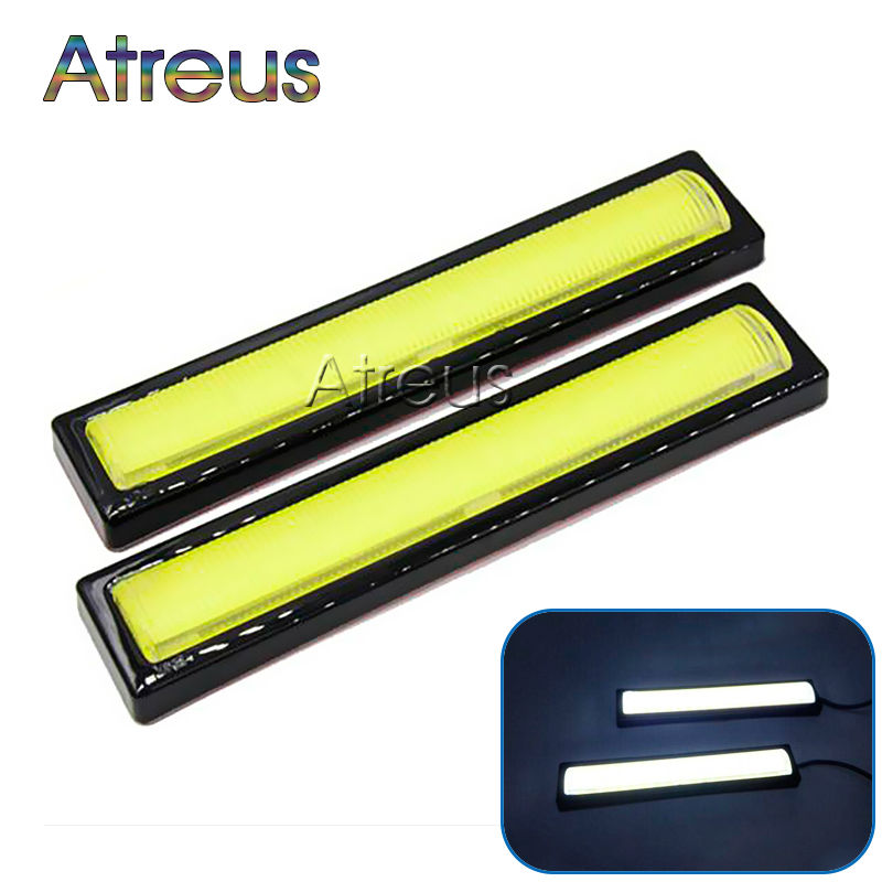 Atreus new 1Pair Car LED Daytime Running Lights 12V Waterproof White DRL LED Driving Fog Lamp For Universal Car Accessories new brand 9006 hb4 11w led bulbs white 12v car fog driving lights headlight low beam 2pcs