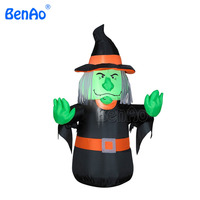 H012 Halloween Outdoor Decoration Witch with Lights ,inflatable halloween props