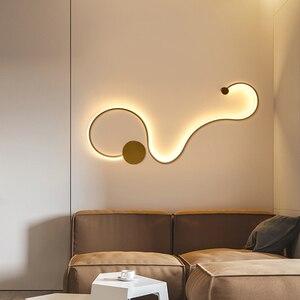 Image 5 - מודרני קיר שינה מחקר סלון מרפסת חדר אקריליק בית דקו לבן שחור ברזל גוף פמוט led אורות גופי