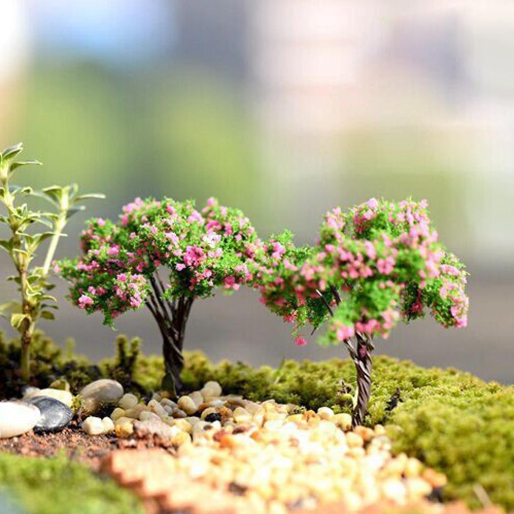 Mini Tree Plants Miniature Fairy House Dollhouse Garden DIY Micro ...