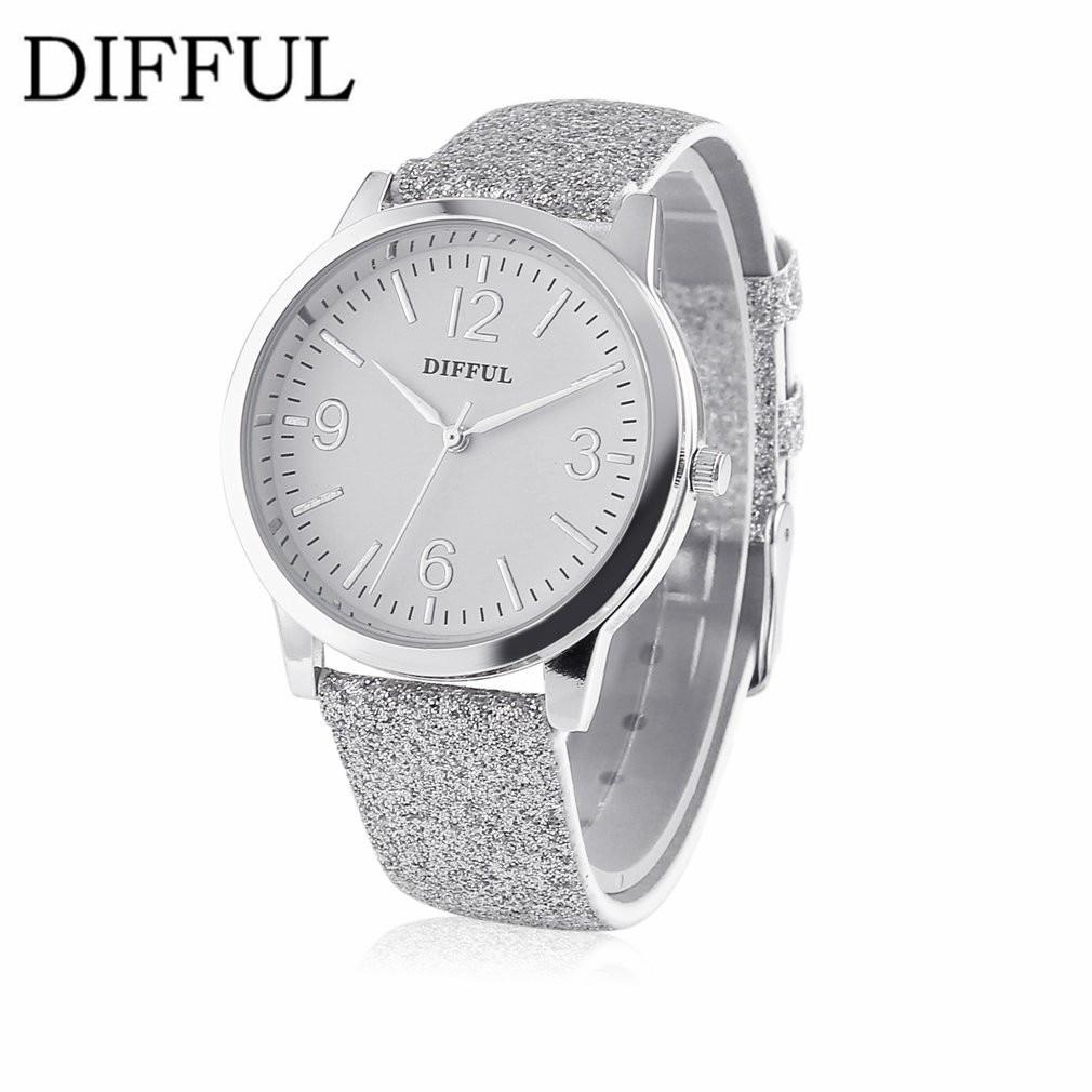 DIFFUL Elegant Fashion Watch Women Small Roman Numbers Quartz Men Business Wristwatch White Face Student Luxury Style DF17-WF05