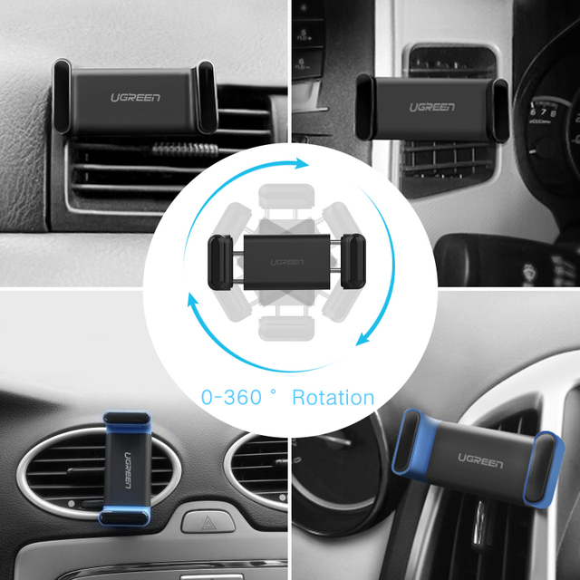 Ugreen Car Phone Holder for iPhone 8 X Air Vent Mount Car Holder 360 Degree Mobile Phone Holder for Samsung Xiaomi Holder Stand