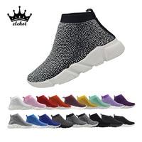 Bling Sneakers Rhinestone Shoe Crystal Sock Boots Women's Vulcanize Shoes Luxury Casual Woman 2019 Dropshipping Ladies Sneaker