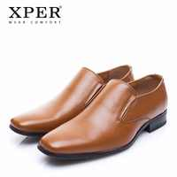 XPER Brand Fashion Men Dress Shoes New Spring Autumn Wedding Shoes Men Business Shoes Comfortable Formal Shoes #XYWD8670BR