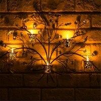 Новый металл, кристалл искусственные растения дерево настенные подсвечник Рождество Хэллоуин день черный без свечи CD006