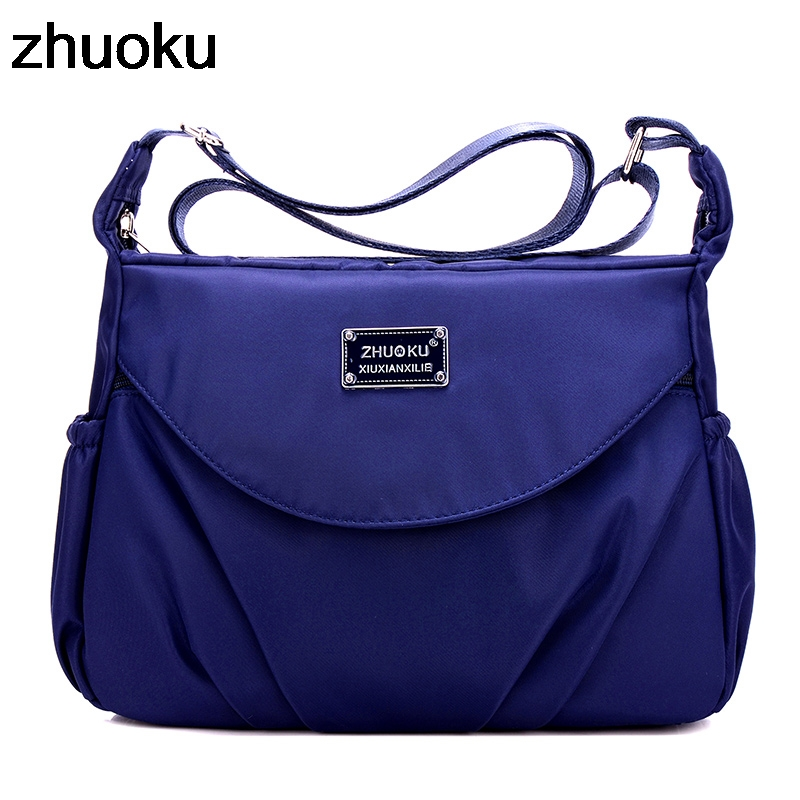 Waterproof Nylon Women Messenger Bags Casual Clutch Carteira Vintage Hobos Ladies Handbag Female Crossbody Shoulder Bags 1 6 rc alloy rear differential set 86002 for fg monster hummer truck rovan big monster