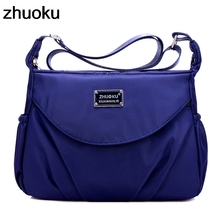 Waterproof Nylon Women Messenger Bags Casual Clutch Carteira Vintage Hobos Ladies Handbag Female Crossbody Shoulder Bags стоимость