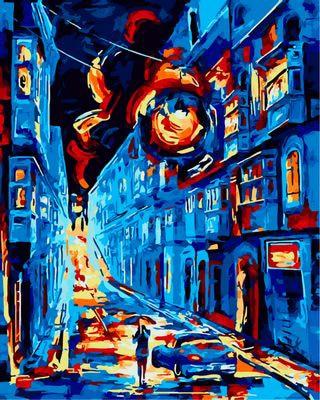 London Straße ölgemälde Durch Zahlen Abstrakte Färbung Malen Nach Zahlen Dekorative Acryl Gedruckt Leinwand Malerei Kalligraphie