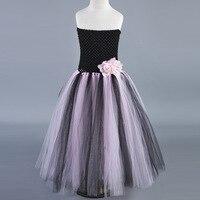 أسود وردي تول زهرة فتاة فساتين الزفاف حزب اللباس الأطفال الأميرة توتو اللباس الاطفال الفتيات عيد الكرة أثواب vestidos