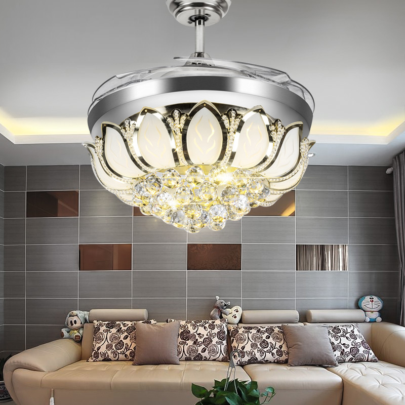 online get cheap ceiling fans with crystal chandelier light