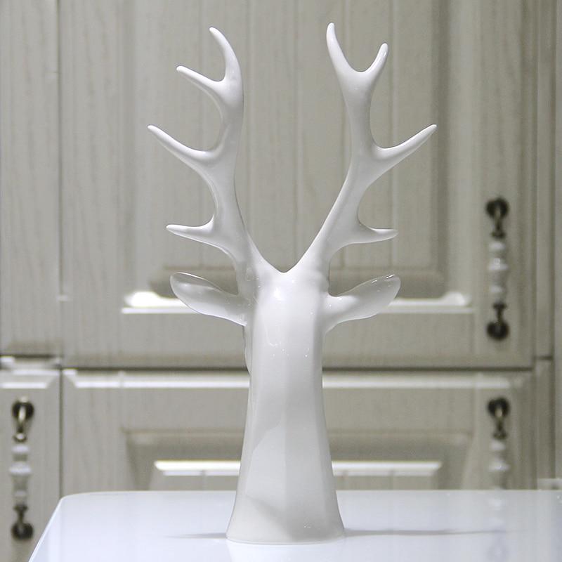 Aliexpress Com Buy Creative White Ceramic Deer Head Figurines