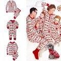 Familia A Juego Ciervos de Navidad Pijamas Set Mujeres Niños Bebé ropa de Dormir Suave y Cálida Ropa de Dormir ropa de Dormir de impresión de Navidad Año Nuevo Nigh