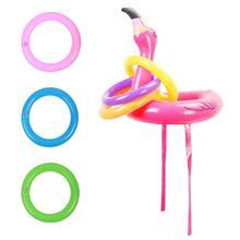 Надувная шляпа фламинго, надувная голова Фламинго с 6 шт. кольцами, игра для Гавайских Луау, игра для семьи, Летняя Вечеринка, Dec