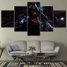 5 Piece Game Hero Death God Reaper Painting High Quality Canvas Printing Type Home Decorative Boy Room Wall Artwrok Framework