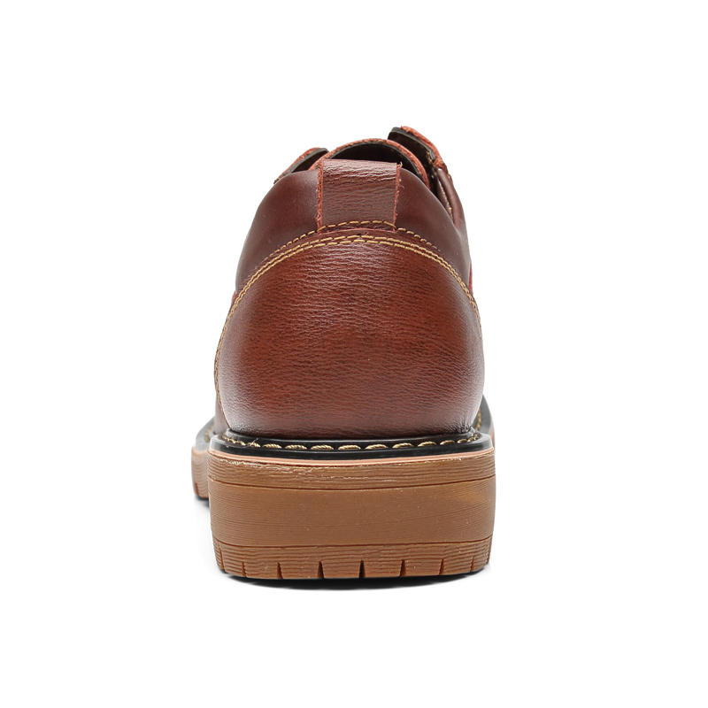Image 5 - Vancat High Quality Men Casual Sheos 2018 New Genuine Leather Flat Shoes Men Oxford Fashion Lace Up Men's shoes Work Shoe-in Oxfords from Shoes