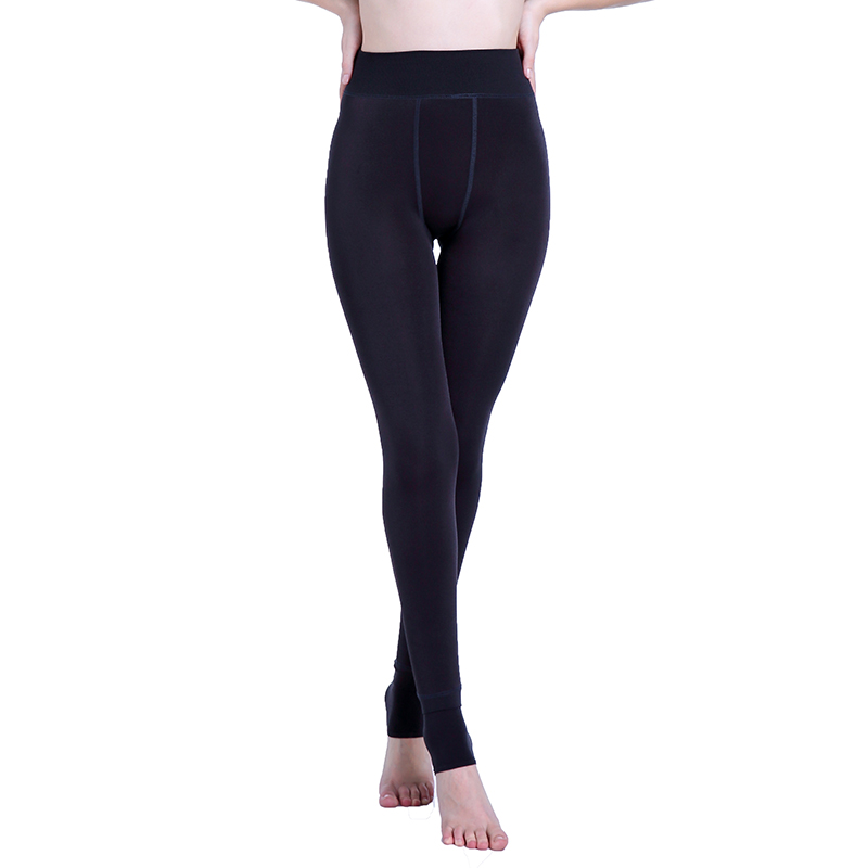 Image 2 - Autumn Winter Fashion Explosion Model Plus Thick Velvet Warm Seamlessly Integrated Inverted Cashmere Leggings Warm Pants-in Leggings from Women's Clothing