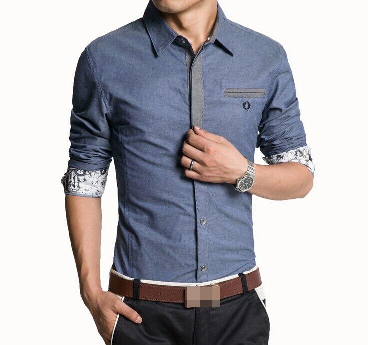 Aliexpress.com : Buy 2015 Men's Casual Long Sleeve Denim Shirt ...
