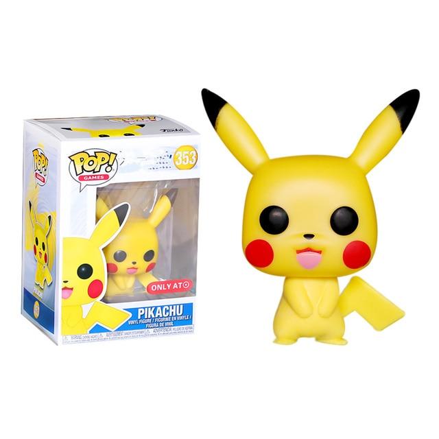 FUNKO POP New Japonês Dos Desenhos Animados Anime Bonito Pikachu Vinyl Action Figure Coleção de Brinquedos para As Crianças presente de aniversário