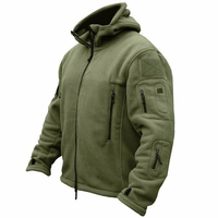 Military Fleece Tactical Jacket Solid Casual Hooded Jacket Army Zipper Coat Outdoor Thermal Ventilation Sports Polar Clothes