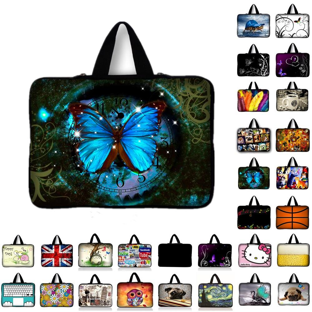 7 10 12 13 13.3 14 15 15.6 17.3 inch Butterfly Neoprene Laptop Bag Sleeve Pouch Notebook Tablet Case For Dell HP ASUS Lenovo Y1