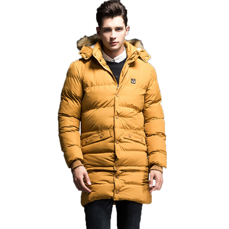 2017 Long Thick  Winter Jackets Mens Fashion Hooded Cotton Parkas Male Windproof Casual Hoodies Brand Clothing outwear Warm Coat вешалка sheffilton чайка черный серый 3 штуки