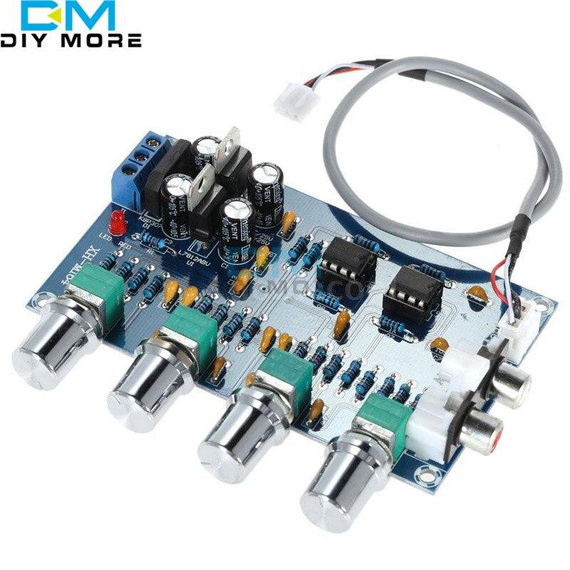 NE5532 Stéréo Pré-amp Préamplificateur Bord de Ton 12-24 V AC Amplificateur Conseil
