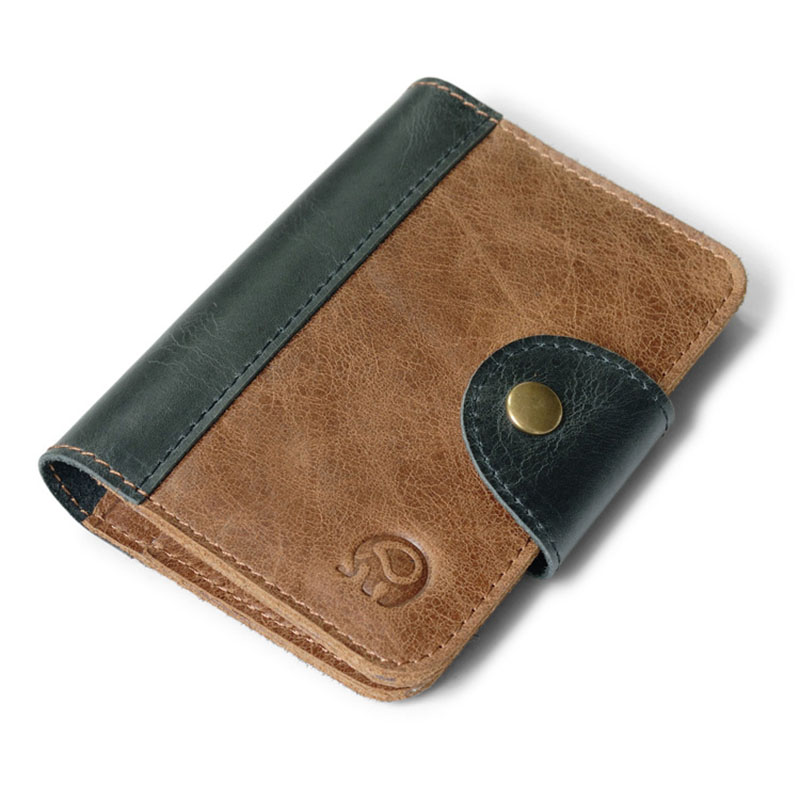 Genuine Leather Card Id Holders Retro Small Case To Protect Credit Cards Cover for Bank Cards Men Business Card Holder