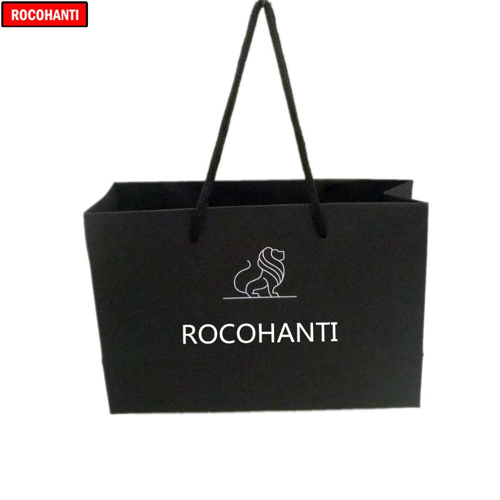 100x Custom LOGO Printed Cotton Handle Black Shopping Paper Gift Bags For Cosmetic Jewelry Clothes Packaging Wedding Party Favor