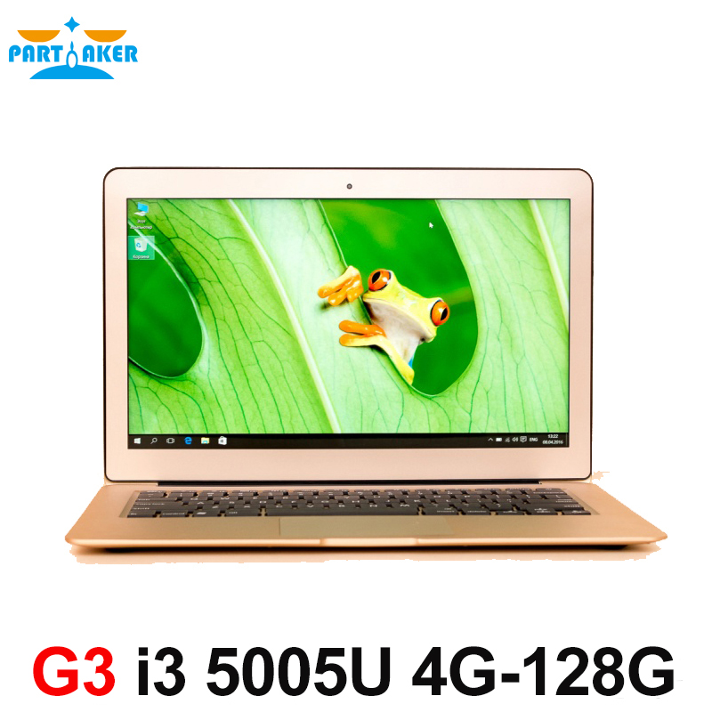 Partaker 13 3 inch Ultra Thin Laptop Notebook Computer with Broadwell i3 5005u Processor 2 0M