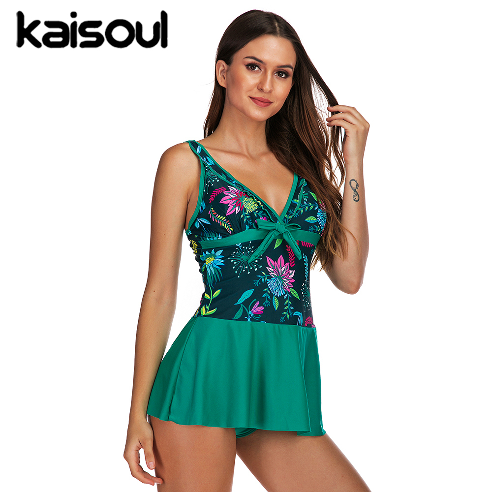 Sexy Bikini Swimwear Two Pieces Women Swimsuit Plus Size Push Up Print Swimming Beachwear New Arrival Vintage Padded Green