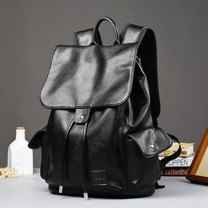 ETONWEAG Brands Cow Leather Backpacks For Teenage Girls Black Vintage School Bags For Women 2017 Travel Drawstring Bag BagPack etonweag brand cow leather backpacks for teenage girls school bags for teenagers black fashion drawstring bag vintage laptop bag